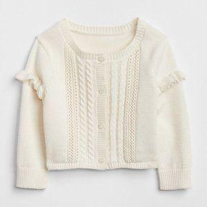 Baby Gap Ivory Knit Cardigan | 6-12m